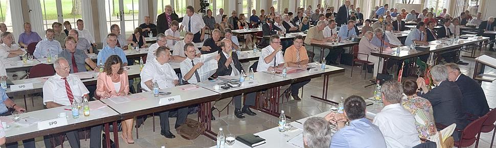 Kreistagssitzung in der Wandelhalle Bad Mergentheim