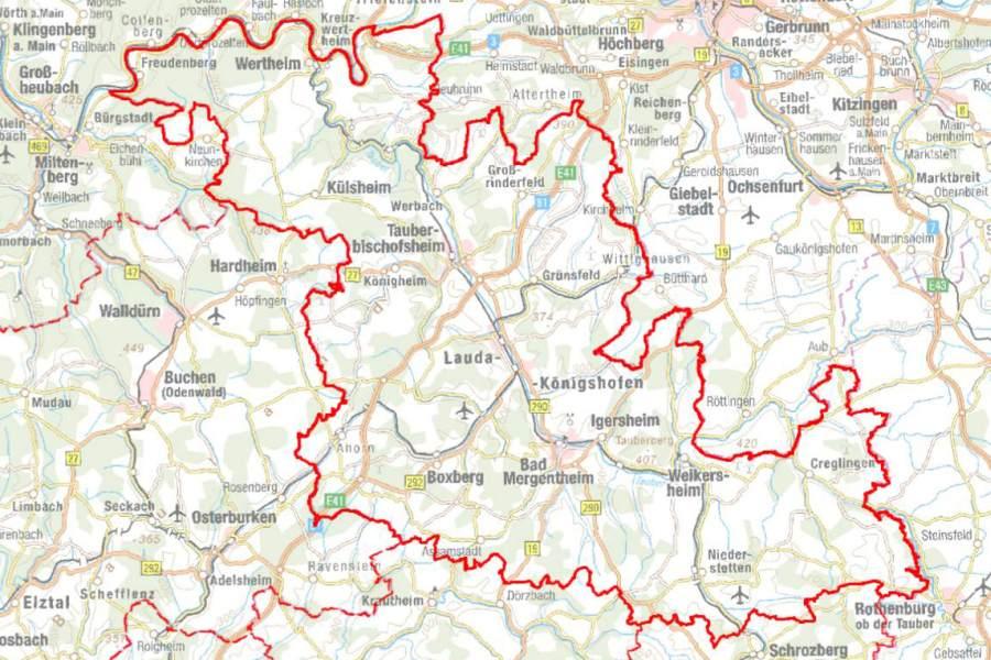 Main Fluss Karte.Geoportal Main Tauber Kreis
